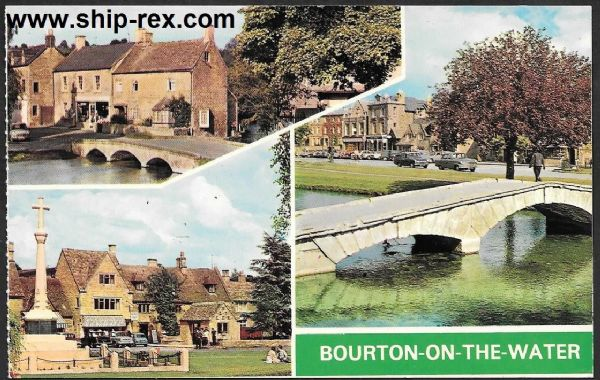 Bourton-On-The-Water, multi-view postcard